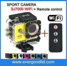 SJ4000 Style Wifi SJ7000 Action Cameras DV Full HD 1080P With Remote Control & Diving Waterproof 30m Helmet Cam