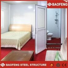 heat insulated mobile living container shipping prefabricated house