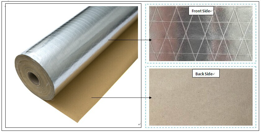 Fsk aluminum foil insulation material fsk paper foil buy for Fireproof vapor barrier