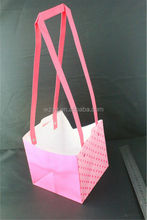 recycle paper bag paper hand bag color printed for flower packaging