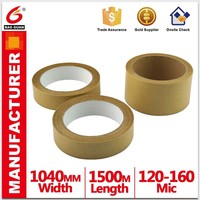Adhesive to strengthen the free water kraft paper tape