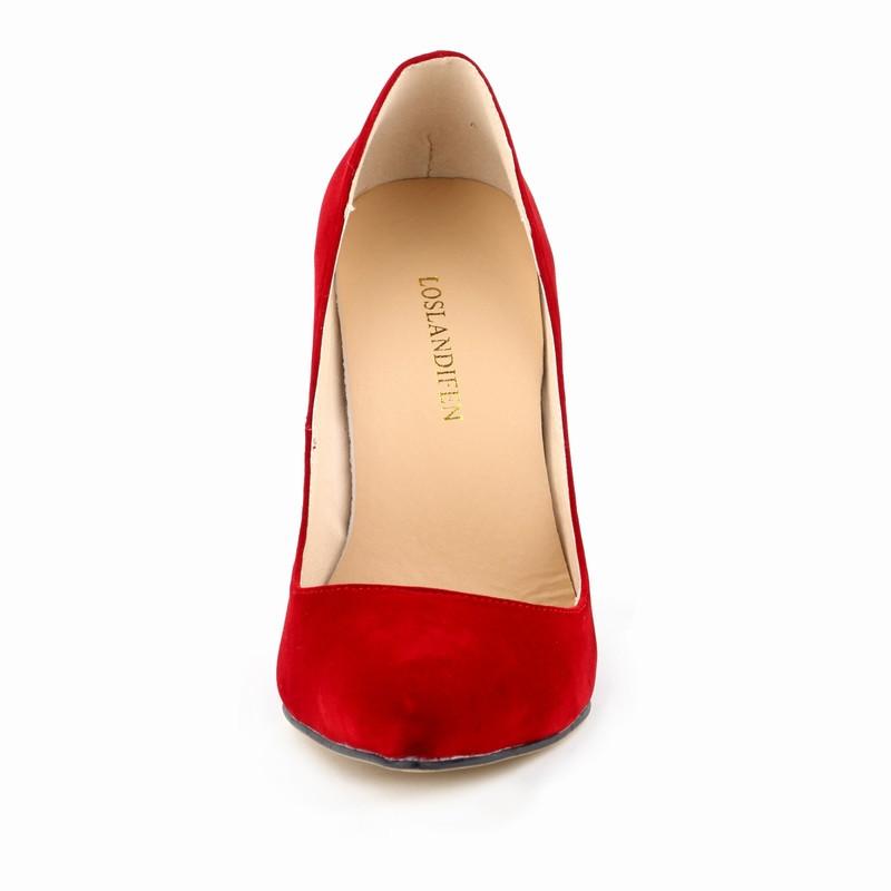 Классический сексуальный указал мыс высокие каблуки женщин насосы обувь Бархатная Весна бренд дизайн, Свадебные туфли насосы 10 цветов большой размер 35-42