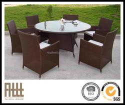 2015AWRF5074B sythetic rattan matertial chair set used teak patio furniture