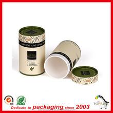 wholesale custom paper tube tea package