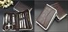 Stone pattern professional stainless steel manicure set beauty nail care kit 8pcs