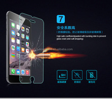 High quality 9H tempered glass screen protector for samsung apple iphone 5c 5s 6 puls sarmtphone moblie cell phone