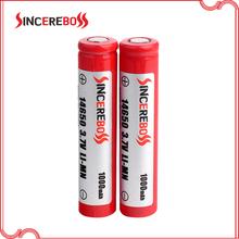 Sincereboss special 3.7v 14650 1000mAh battery 14650