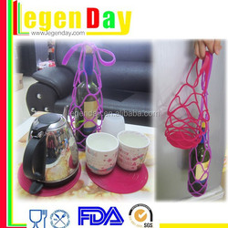 Portable novelty decorative silicone bottle holder
