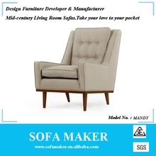 Retro high back armchair for home furniture Mandy