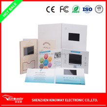 LCD video brochure card OEM 3.5 inch video player card music card for Wedding/business use