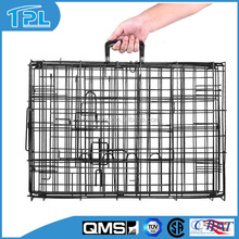 Collapsible Suitcase Metal Wire Pet Dog Kennel