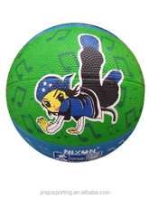 Cartoon style Rubber Basketball Size 3