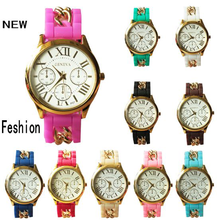 ancient rome number women New arrival Casual Watch Geneva Quartz 2 colors Beautiful Ladies Watch with metal dress