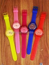 silicon watch wristband braceletS promotional custom slap watch jelly watches