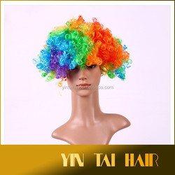 Halloween Show Colorful Hair Wig Clown Fans Party Hair Wigs