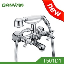 clawfoot wall mounted bath shower mixer taps