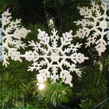 Set of 20 Glitter Snowflake Christmas Ornaments Pearlized Winter Wedding Favor Frozen
