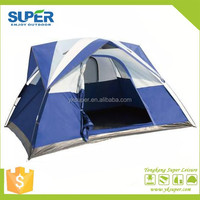 luxury family Outdoor waterproof custom camping tent 4 person,camping bed tent