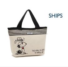 Cute new design Canvas Cotton Lunch Bag Tote Handbag Diaper Shopping bag