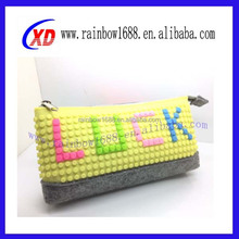 Custom made silicone waterproof pixel shopping bag fashion tote pixel handbag 2015 High quality