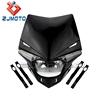 YM-024-BK Black H4 12V 35/35W LED powerful MX ENDURO dirt trail bike 250cc motorcycle headlight headlamp head lamp