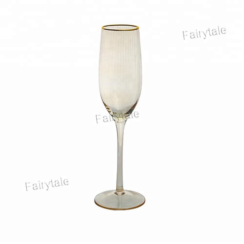 Réunion de Famille de noël Verrerie Partie Or Jante Grain Champagne Flûtes Lunettes