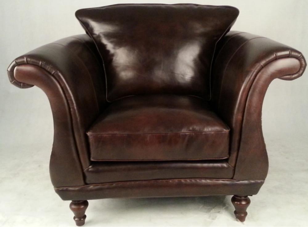 Genial Single Seater Retro Vintage Leather Sofa Armchair