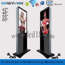 "Floor Standing 42"" 46"" 55"" 65"" digital wall tv video poster digitizer manufacturer screen lcd display direct tv monitor hd 1080p"