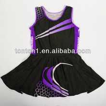 Wholesale lycra (polyester and spandex) custom sublimation dry fit tennis skirt