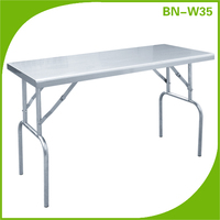Stainless steel commercial Kitchen Euipment Folding Kitchen Dinning Table