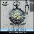 moda bolsillo mecánica del esqueleto reloj de la novedad