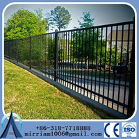 wrought iron Fence / fence lattice panels / ornamental steel fencing