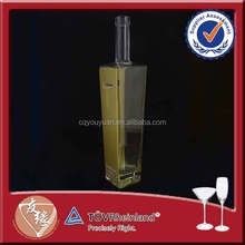 Cork Top Gold Decal Square Vodka 1000 ml Glass Bottle