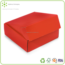 Customized Red Gourmet Shipping Boxes Auto Lock Boxes,1-piece with fold-over lid, for gourmet gift packaging