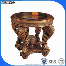 E-0090B Hot sale and clear glass and brass coffee tables / side tables