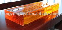 amber crystal glass crafts raw material