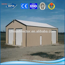 low cost and large span steel structure prefabricated garage