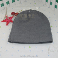 100% acrylic woolen yarn kids winter knitted hats