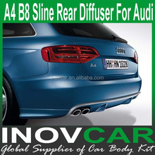 2009 UP A4 B8 PU Sline Design Rear Front Bumper For Audi A4 Rear Diffuser