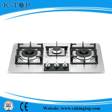 New model kitchen appliance cast iron gas stove with 3 Sabaf burner for sale
