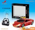 1:18 4 funções de controle remoto de brinquedo elétrico do carro