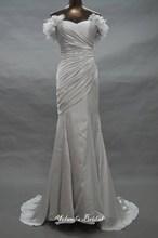 Custom Made Mermaid Ruched Slip Satin Fairy Wedding Dress Beach Style