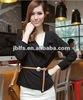 special collar black fashion chiffon long sleeves ladies shirt