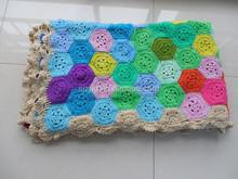Handmade Crochet knit baby blanket for sale