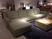 french leather reclining furniture living room genuine leather sofa set J861