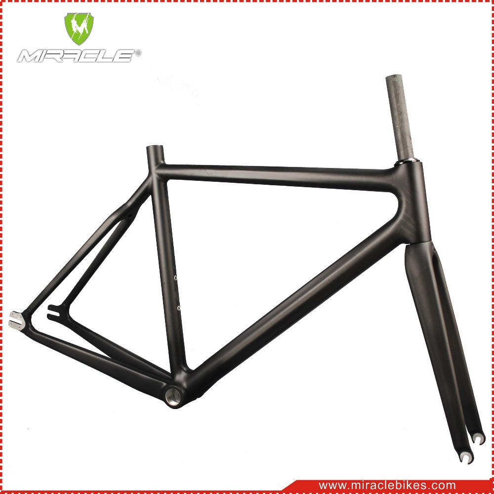 T700 Carbon Bike Frame 700c Carbon Fiber Fixed Gear Bicycle Frame ...