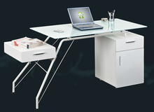 Best selling retail items base table glass / glass laptop table