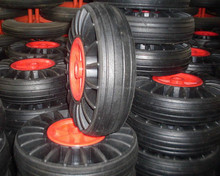 top quality solid rubber wheel 3.00-4
