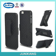 rubber surface hard case belt clip kickstand for iphone 6 4.7inch