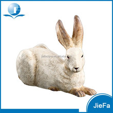 traditional large heavy easter rabbit pair/ easter bunny pair in paper mache for home / garden decorations